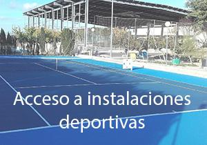 Acceso a instalaciones deportivas