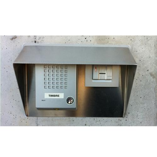 Instalación biométrica de huella dactilar para control de acceso en entornos de oficina