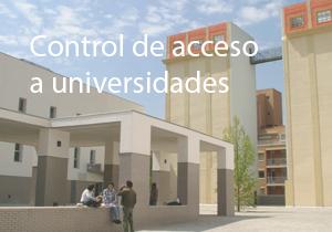 Controlo de acesso a universidades