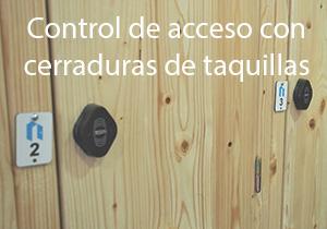 Control de acceso con cerraduras de taquillas