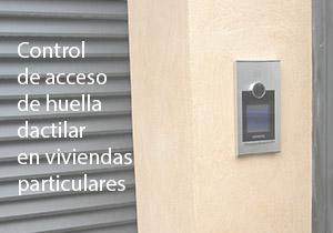 Control de acceso de huella dactilar en viviendas particulares
