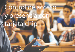 Control de acceso y de presencia con tarjeta chip