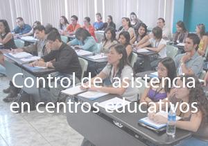 Control de asistencia en centros educativos