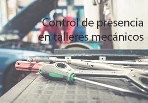 Control de presencia en talleres mecánicos
