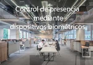 Control de presencia mediante dispositivos biométricos
