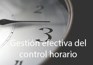 Gestión efectiva del control horario