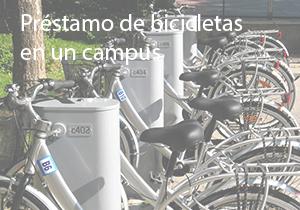 Présstamo de biciletas en un campus
