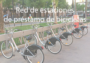 Red de estaciones de préstamo de bicicletas