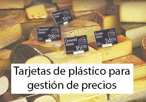 Tarjetas de plástico para gestión de precios