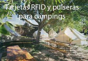 Tarjetas rfid y pulseras para campings