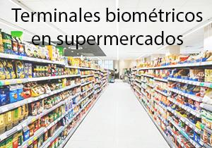 Terminais biométricos em supermercados