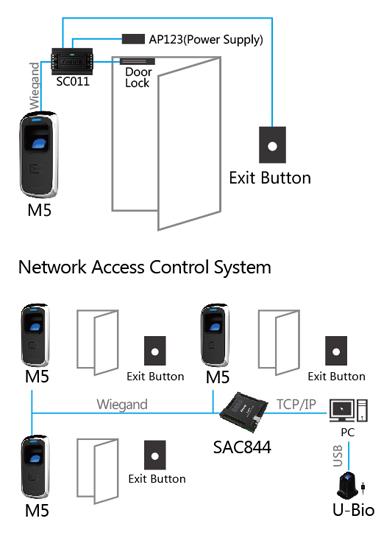 Configuración Control de acceso biométrico ANVIZ M5