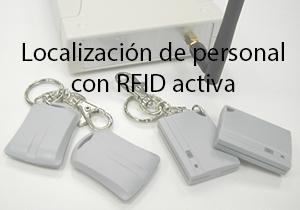 localización de personal con rfid activa