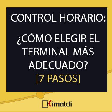 Kimaldi control horario como elegir el terminal