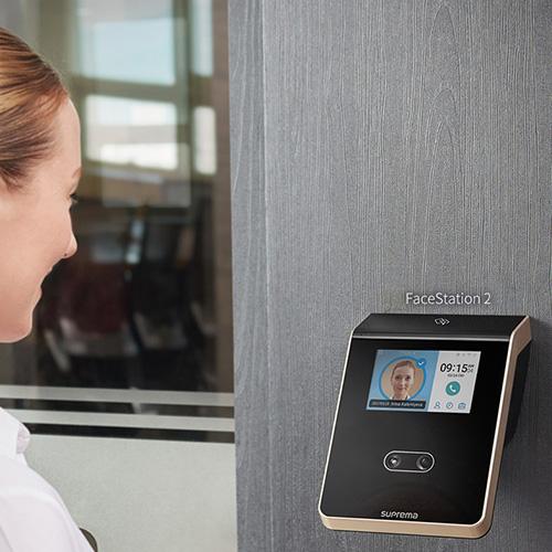 control de acceso y horario facial sin contacto
