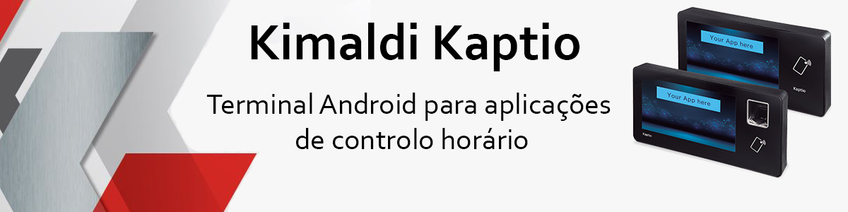 Kimaldi Kaptio - Terminal android para aplicações de controlo horário