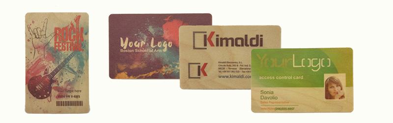 Tarjetas de madera Kimaldi