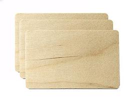 tarjetas de madera para imprimir en color y negro