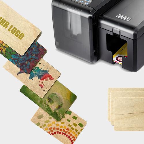 tarjetas de fidelización en papel y madera