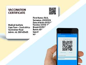 Código QR impreso en tarjeta de plástico
