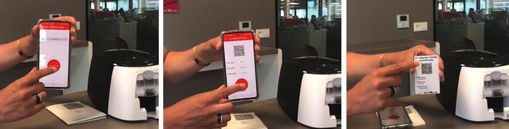 Proceso de impresión codigo QR en tarjetas pvc
